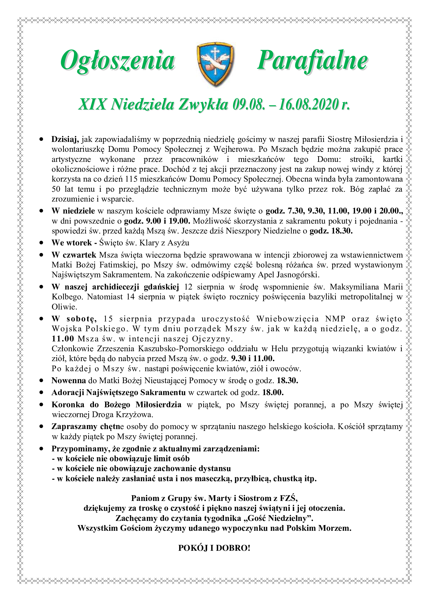 xix-niedziela-zwykla-09-08-16-08-2020-r