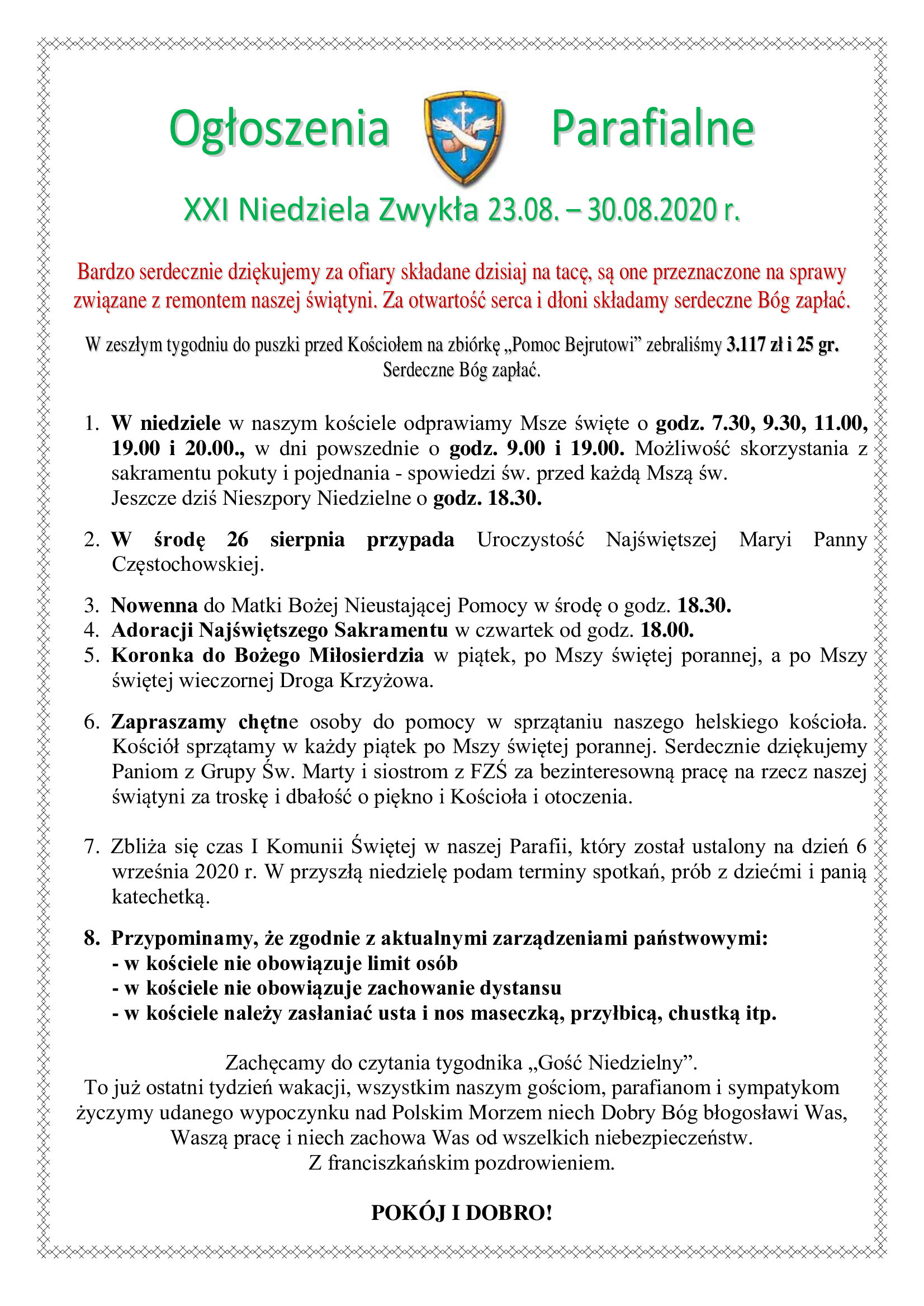 xxi-niedziela-zwykla-23-08-30-08-2020-r