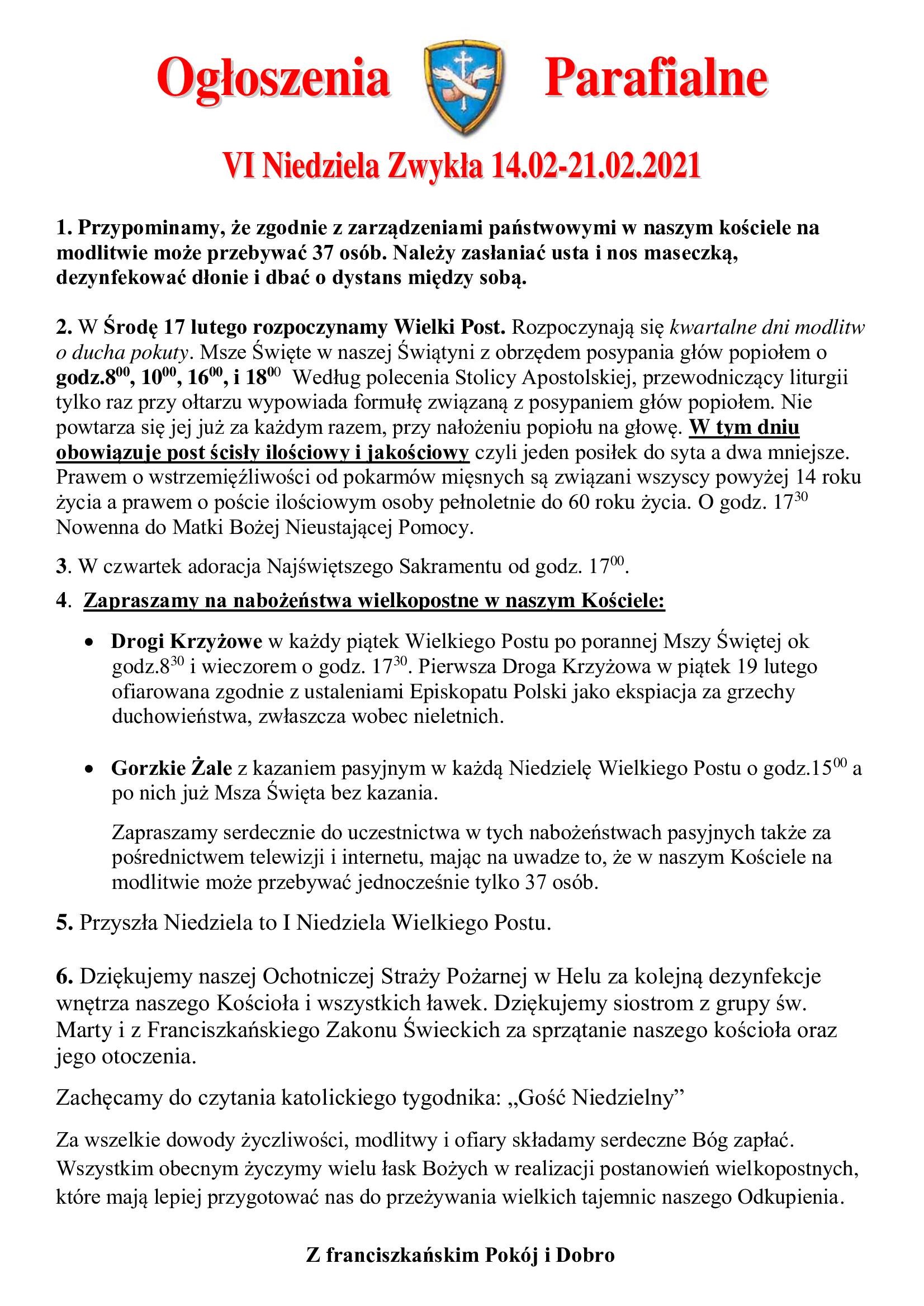 ogloszenia-parafialne-vi-niedziela-zwykla-14-02-21-02-2021