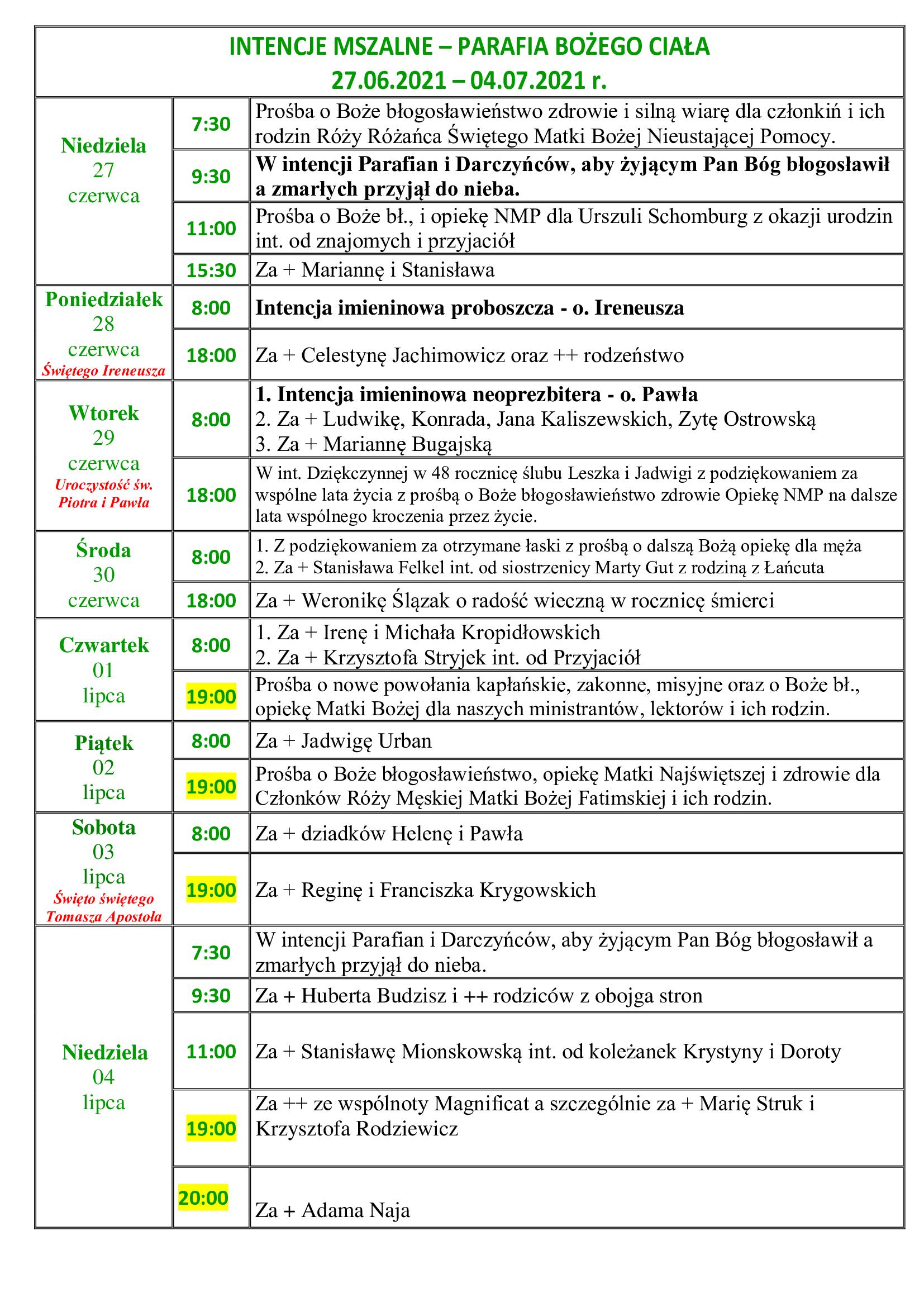intencje-mszalne-13-niedziela-zwykla-27-06-2021-04-07-2021-r