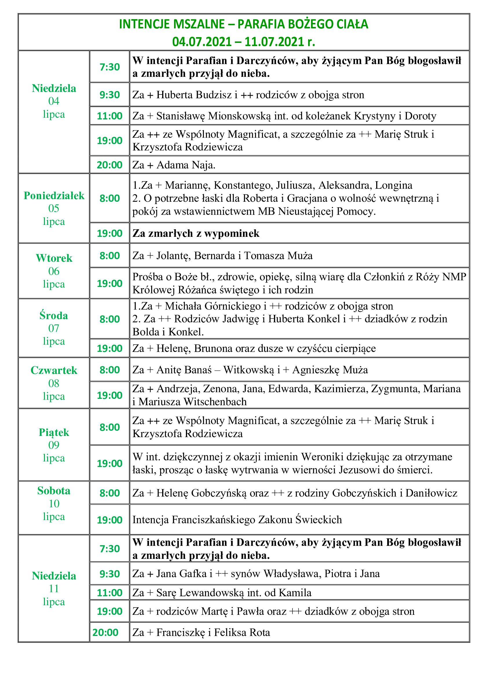 intencje-mszalne-14-niedziela-zwykla-04-07-2021-11-07-2021-r