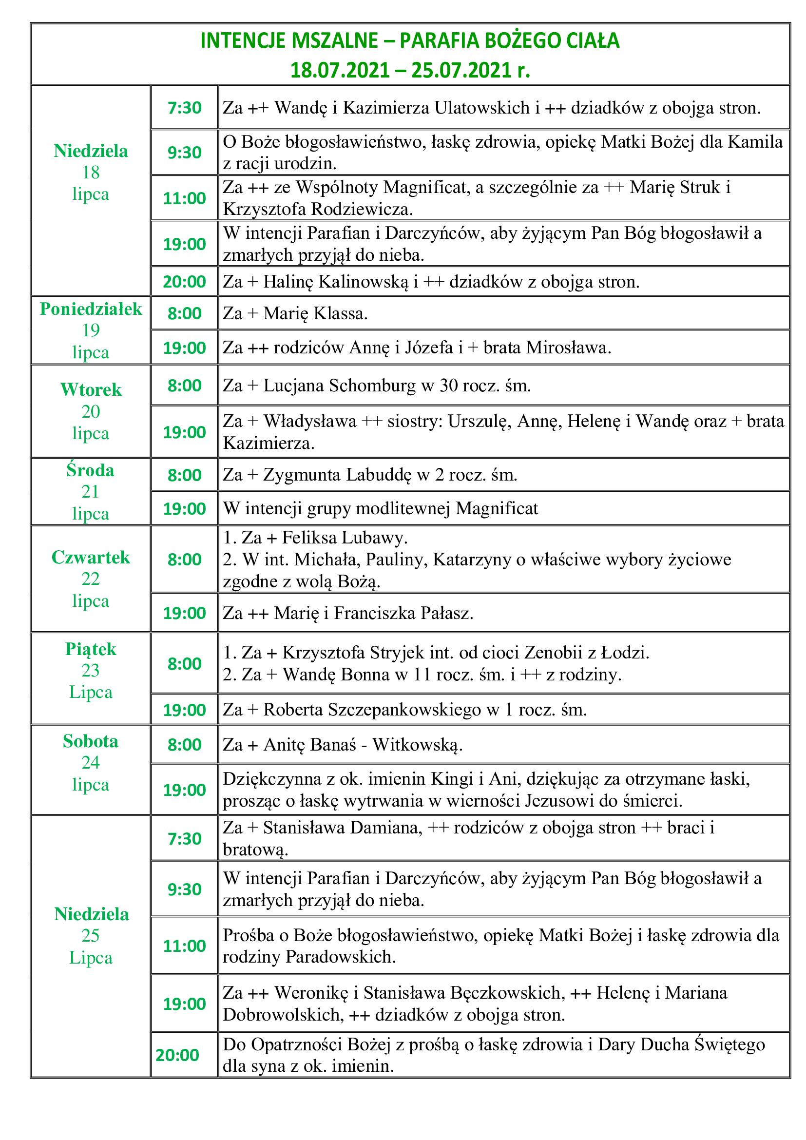 intencje-mszalne-16-niedziela-zwykla-18-07-2021-25-07-2021-r