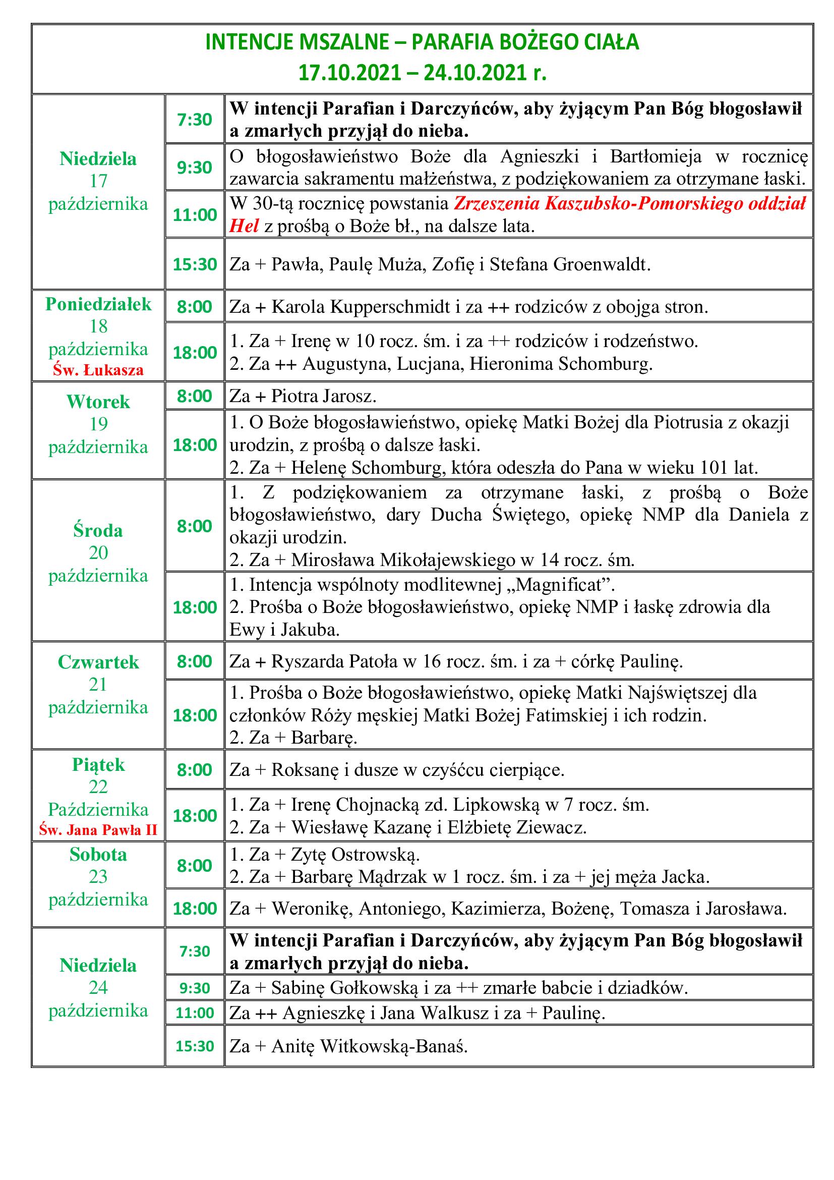 intencje-mszalne-29-niedziela-zwykla-17-10-2021-24-10-2021-r